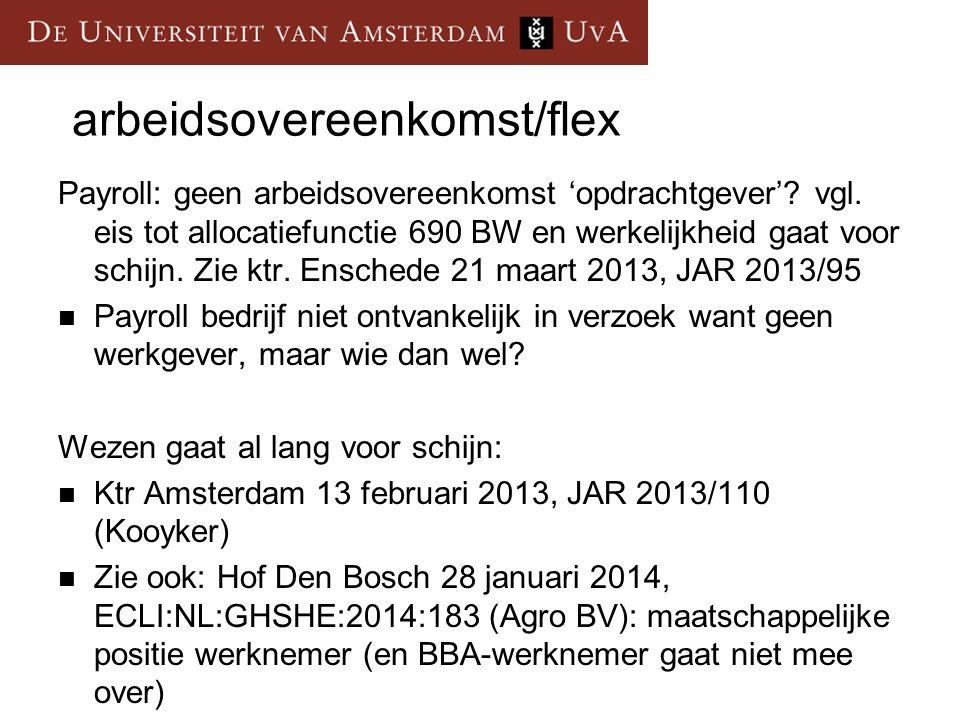 arbeidsovereenkomst/flex
