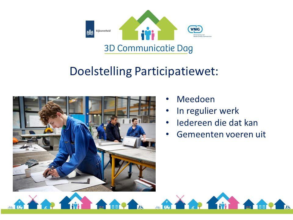 Doelstelling Participatiewet:
