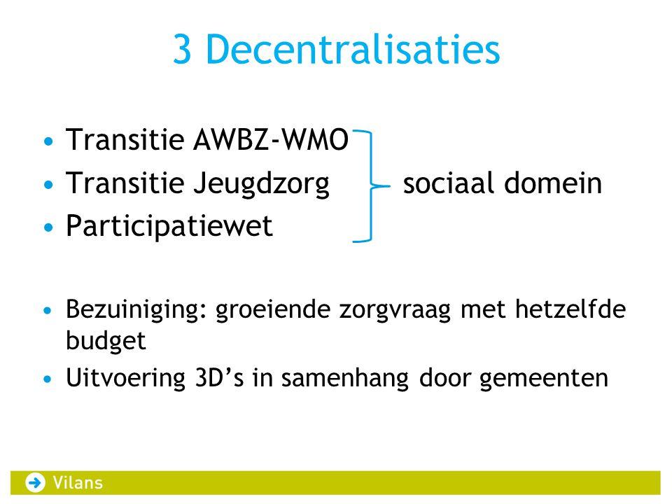 3 Decentralisaties Transitie AWBZ-WMO