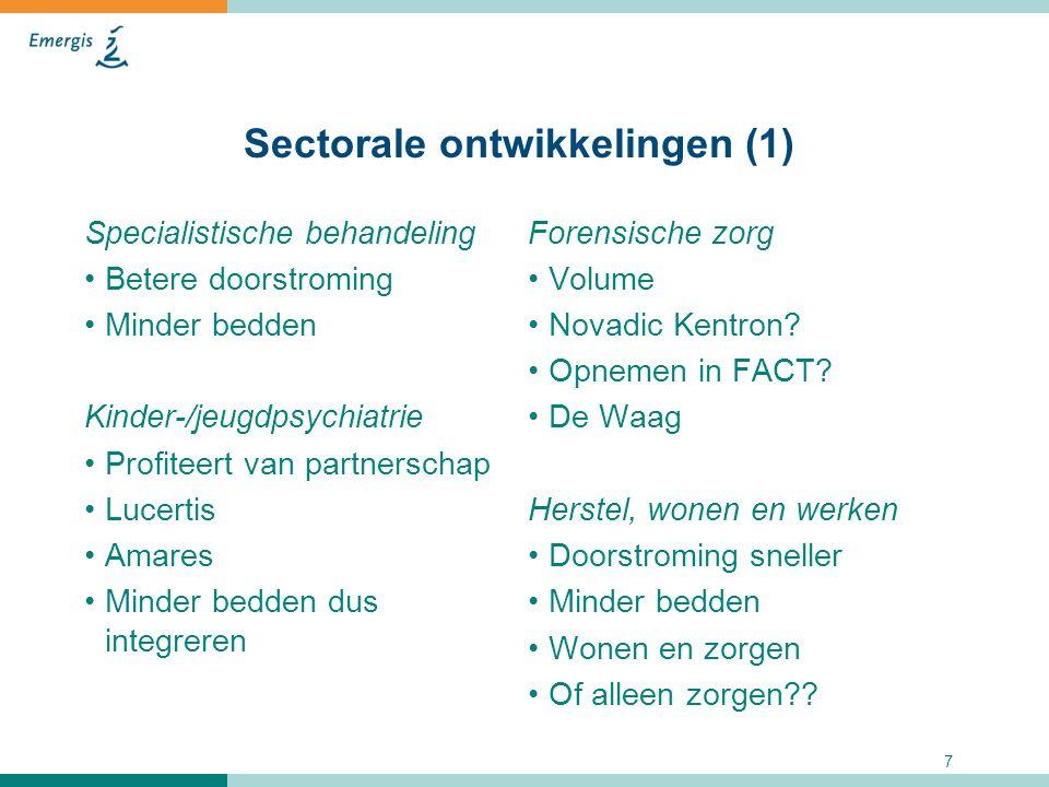 Sectorale ontwikkelingen (1)