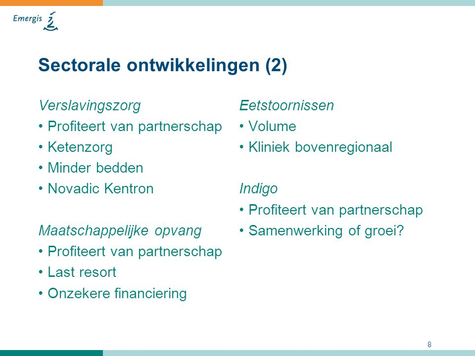 Sectorale ontwikkelingen (2)