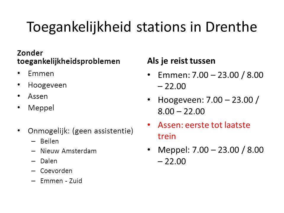 Toegankelijkheid stations in Drenthe