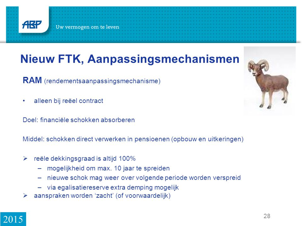 Nieuw FTK, Aanpassingsmechanismen