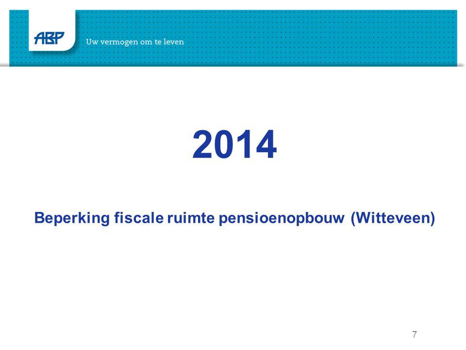 Beperking fiscale ruimte pensioenopbouw (Witteveen)