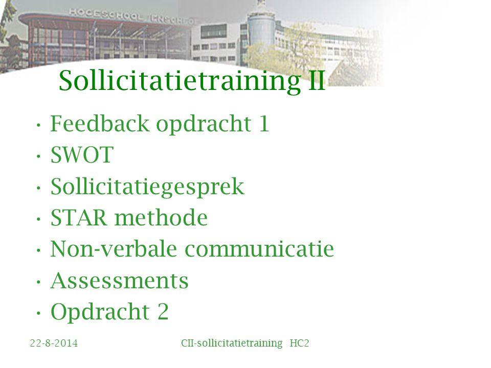 Sollicitatietraining II