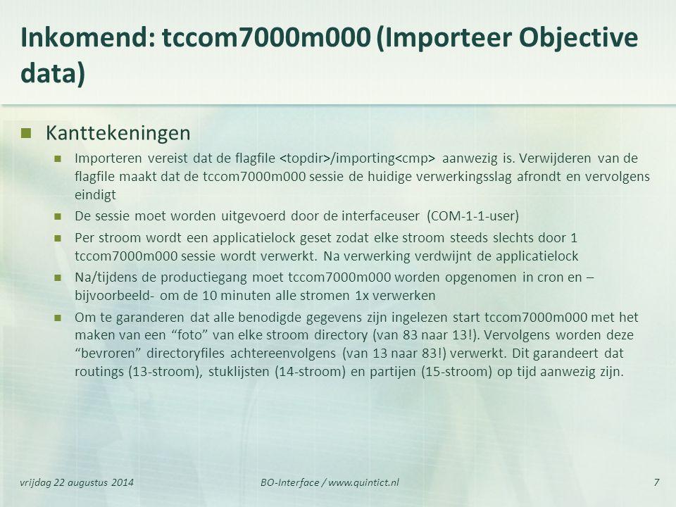 Inkomend: tccom7000m000 (Importeer Objective data)