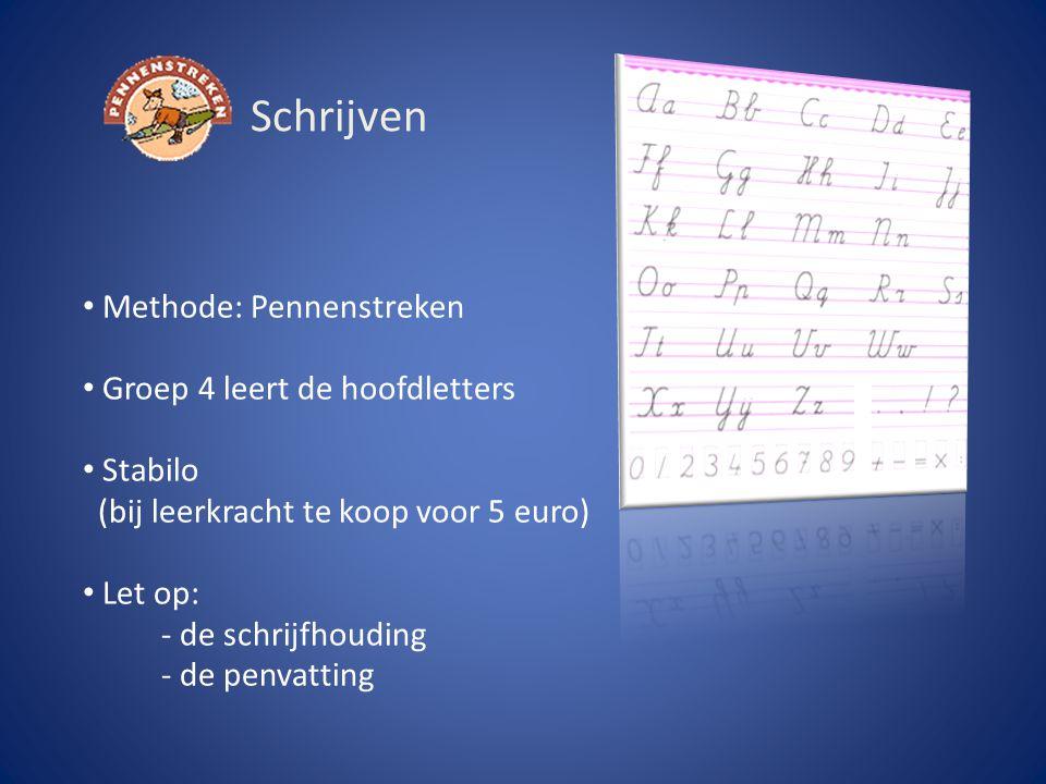 Schrijven Methode: Pennenstreken Groep 4 leert de hoofdletters Stabilo