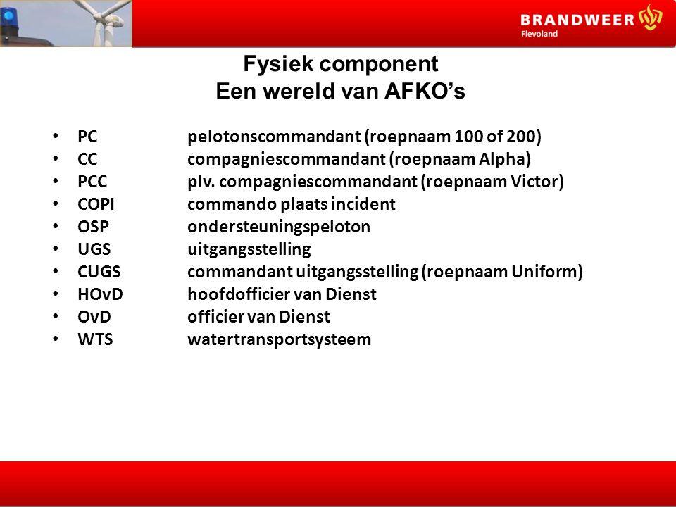 Fysiek component Een wereld van AFKO's