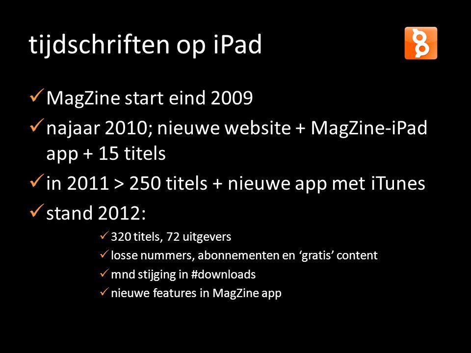 tijdschriften op iPad MagZine start eind 2009
