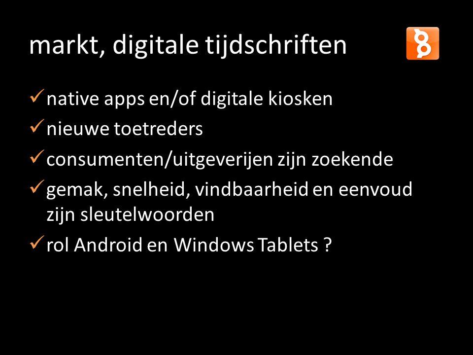 markt, digitale tijdschriften