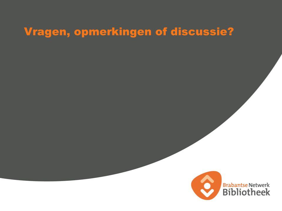 Vragen, opmerkingen of discussie