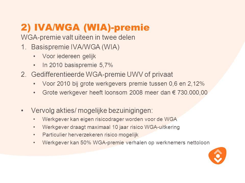 2) IVA/WGA (WIA)-premie