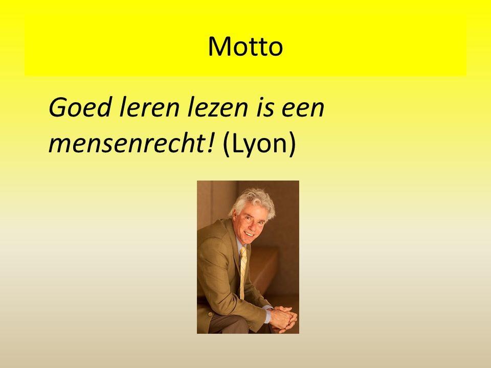 Motto Goed leren lezen is een mensenrecht! (Lyon)
