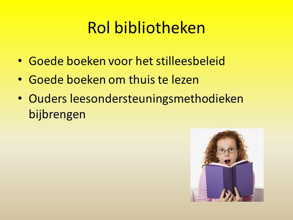 Rol bibliotheken Goede boeken voor het stilleesbeleid