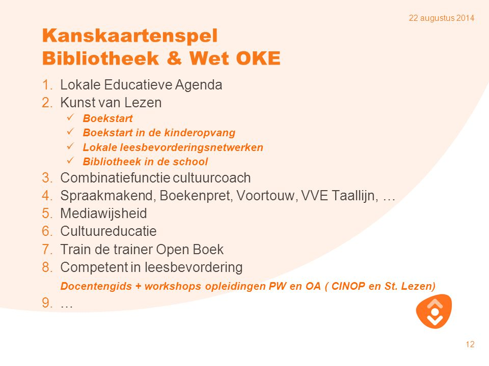 Kanskaartenspel Bibliotheek & Wet OKE