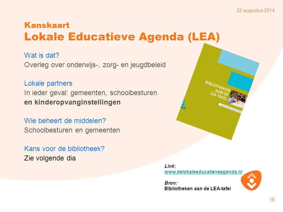 Kanskaart Lokale Educatieve Agenda (LEA)