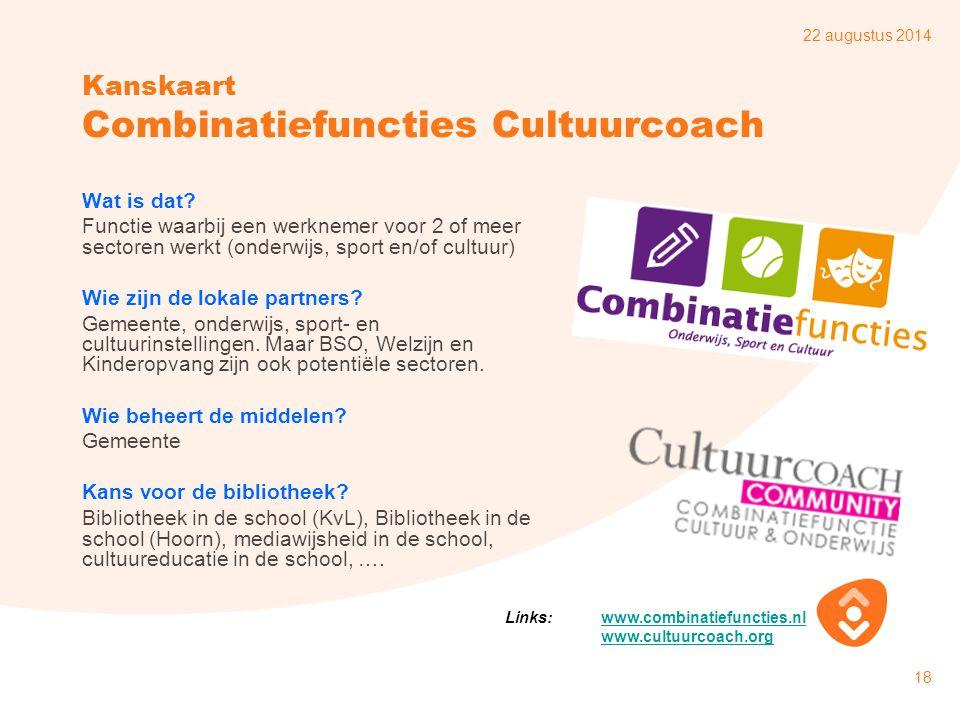 Kanskaart Combinatiefuncties Cultuurcoach
