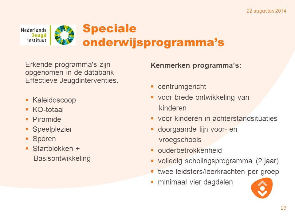 Speciale onderwijsprogramma's