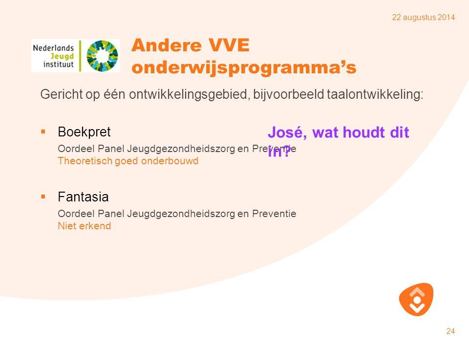 Andere VVE onderwijsprogramma's