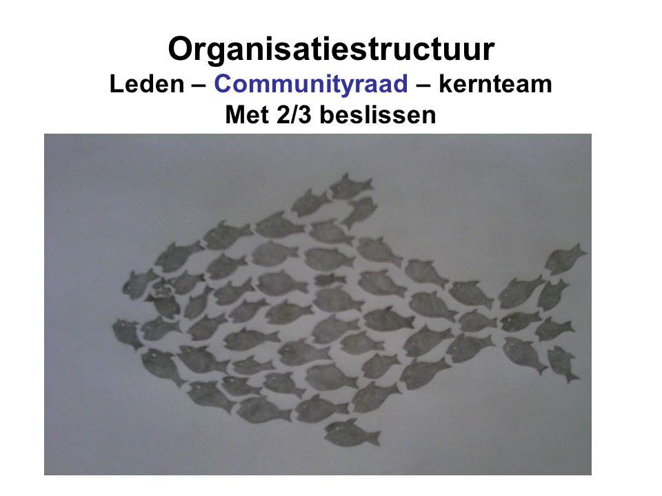 Organisatiestructuur Leden – Communityraad – kernteam