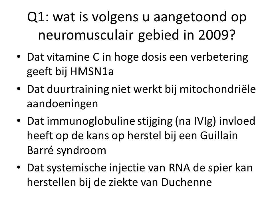 Q1: wat is volgens u aangetoond op neuromusculair gebied in 2009