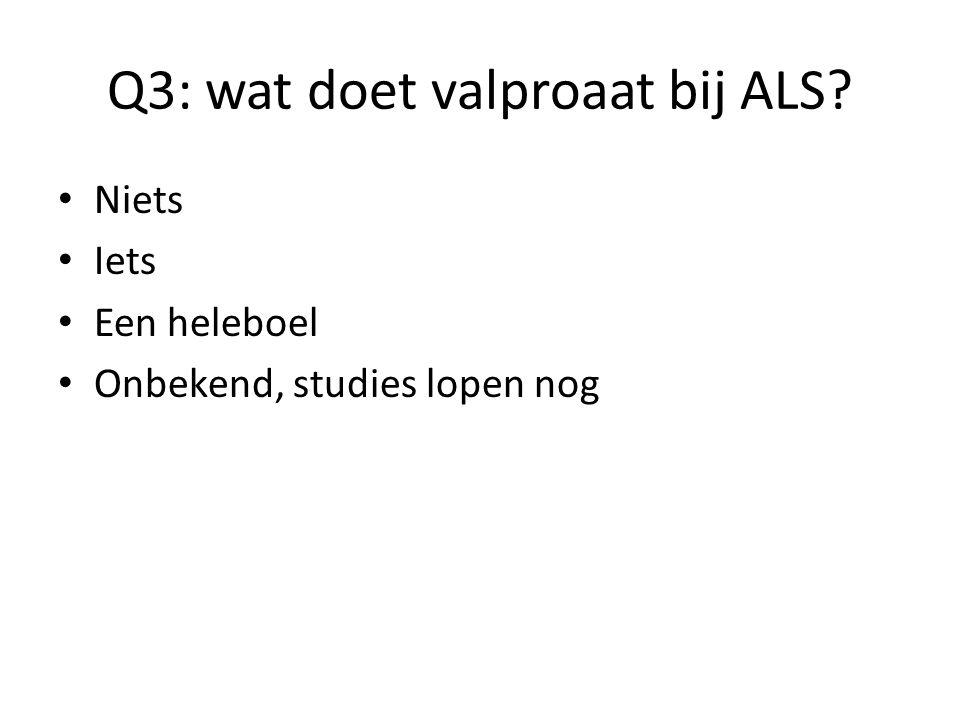 Q3: wat doet valproaat bij ALS