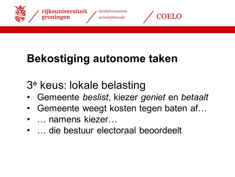 Bekostiging autonome taken 3e keus: lokale belasting