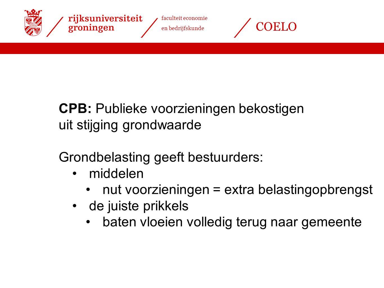 CPB: Publieke voorzieningen bekostigen