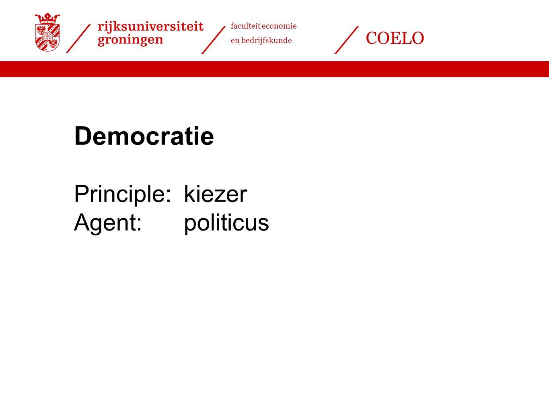 Democratie Principle: kiezer Agent: politicus
