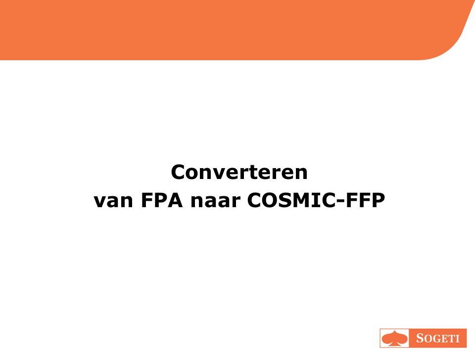 van FPA naar COSMIC-FFP