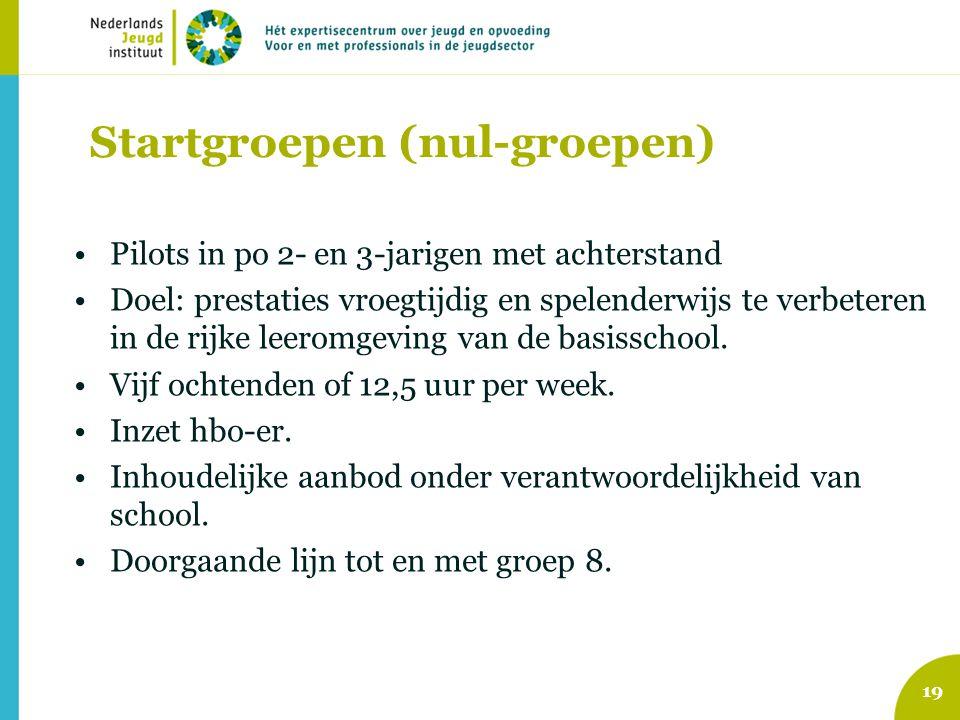 Startgroepen (nul-groepen)