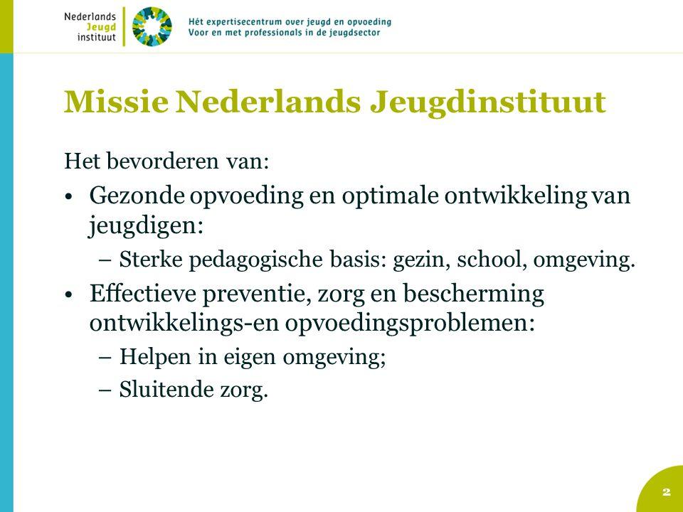 Missie Nederlands Jeugdinstituut