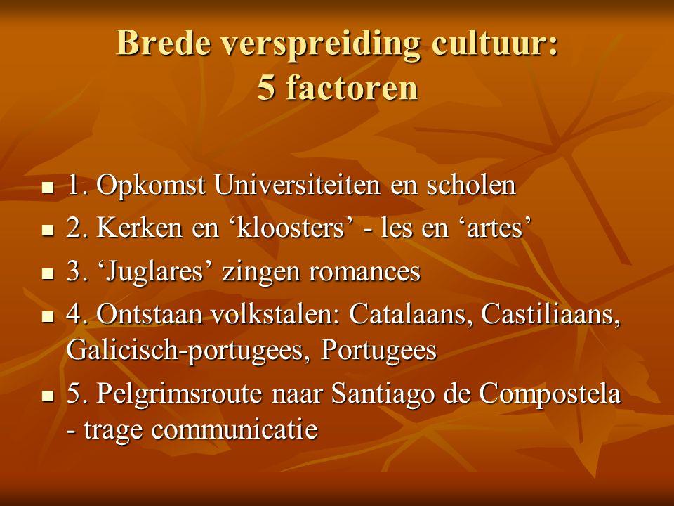 Brede verspreiding cultuur: 5 factoren