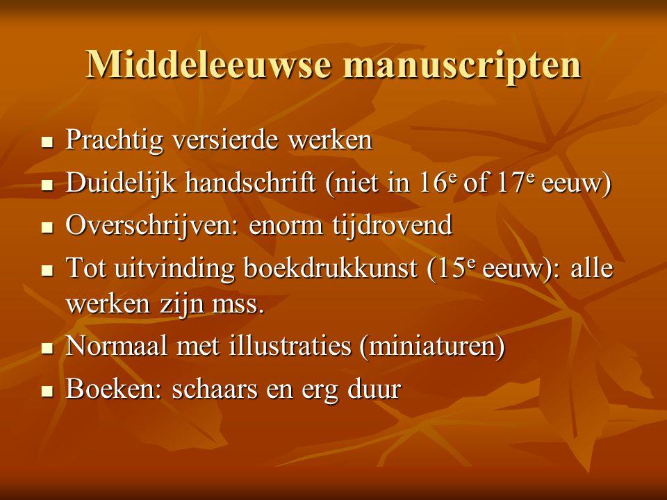 Middeleeuwse manuscripten