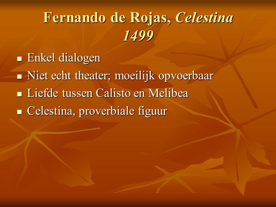 Fernando de Rojas, Celestina 1499