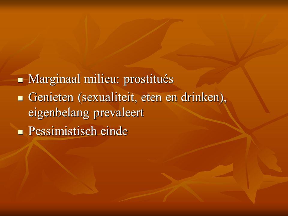 Marginaal milieu: prostitués
