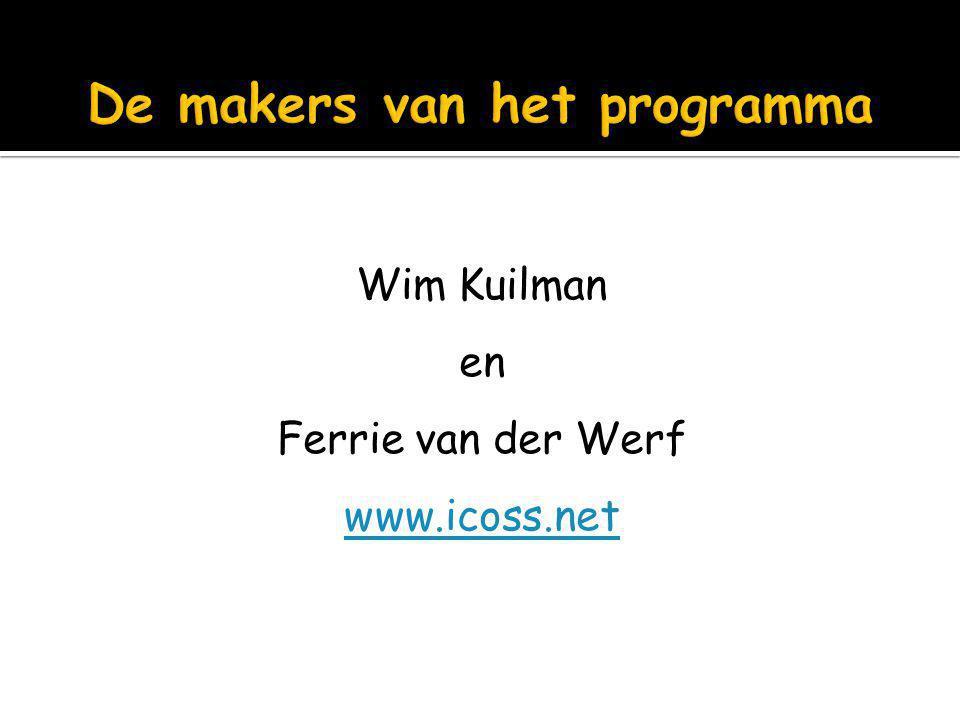 De makers van het programma