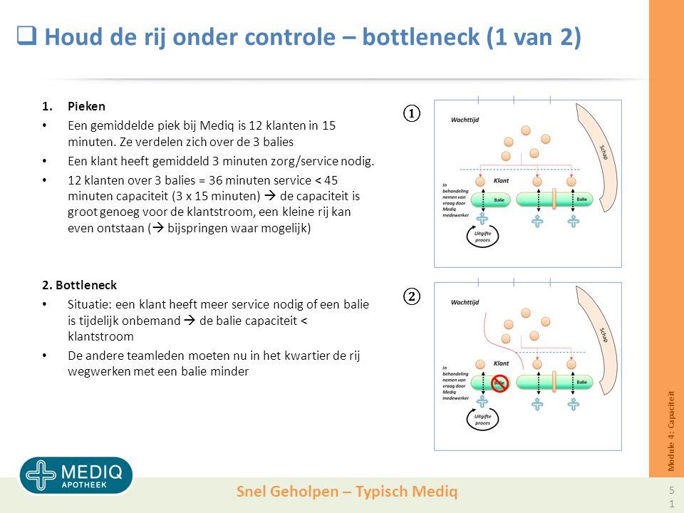 Houd de rij onder controle – bottleneck (1 van 2)