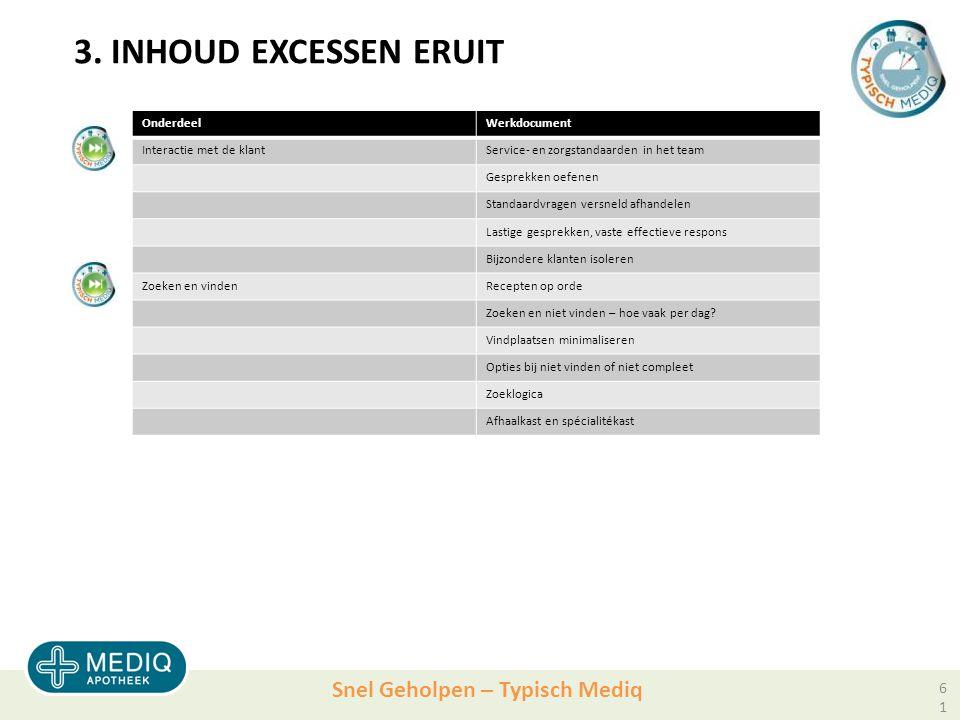 3. INHOUD EXCESSEN ERUIT Onderdeel Werkdocument