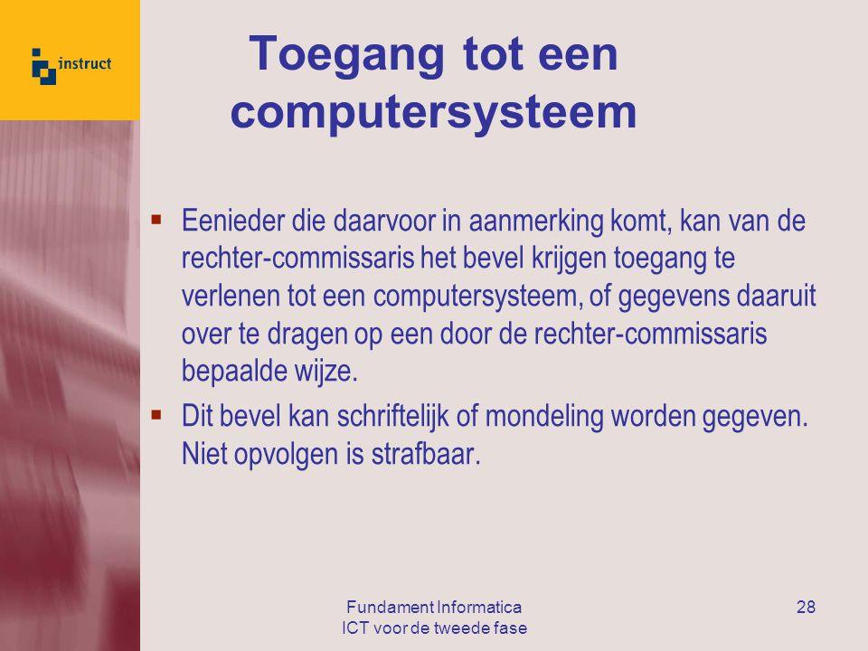 Toegang tot een computersysteem