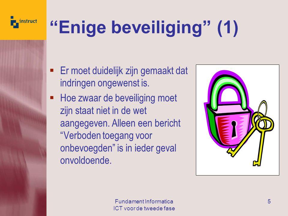 Enige beveiliging (1)