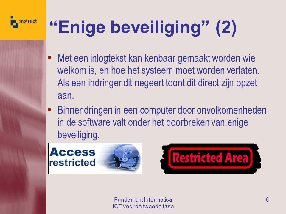 Enige beveiliging (2)