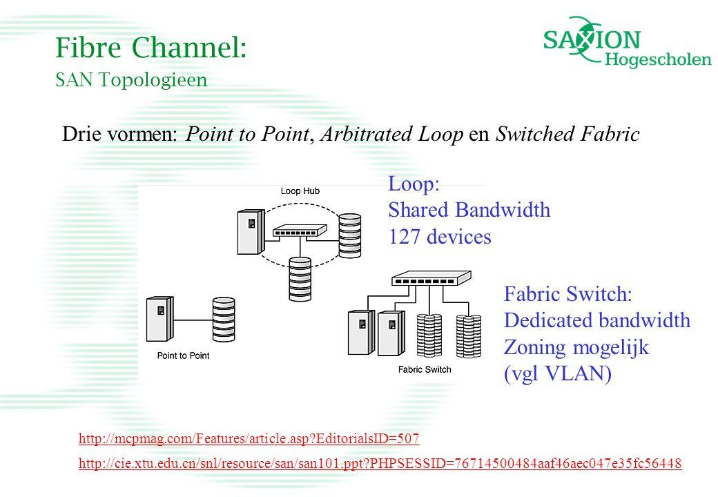 Fibre Channel: SAN Topologieen