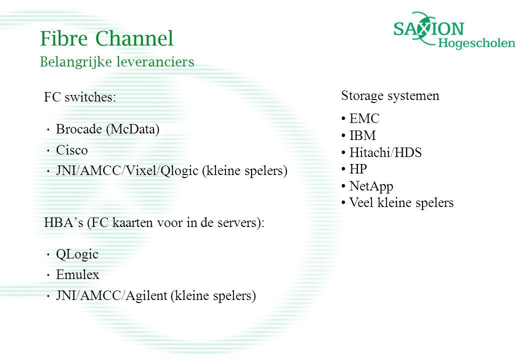 Fibre Channel Belangrijke leveranciers