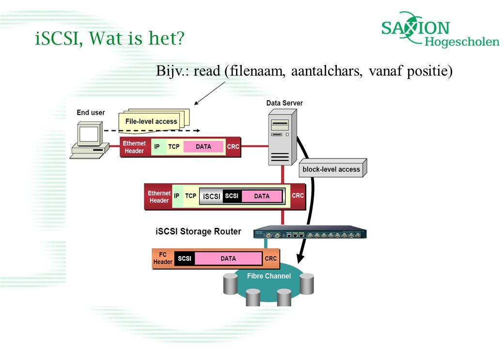 iSCSI, Wat is het Bijv.: read (filenaam, aantalchars, vanaf positie)