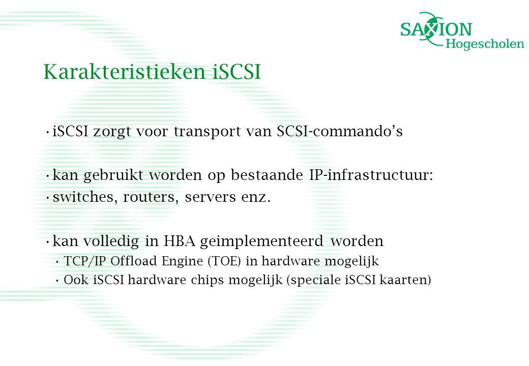 Karakteristieken iSCSI