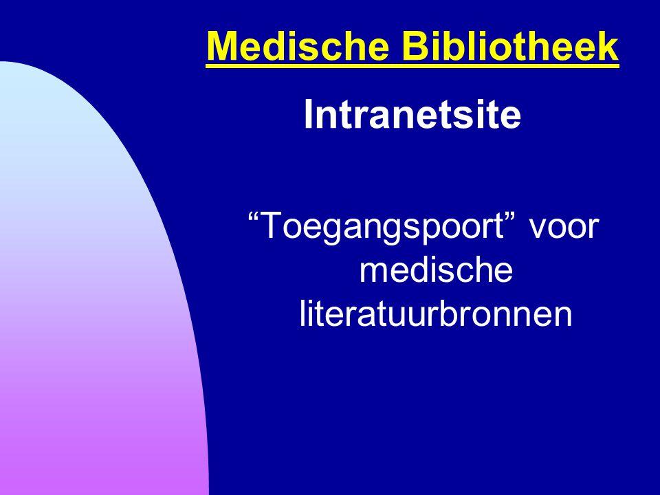 Medische Bibliotheek Intranetsite