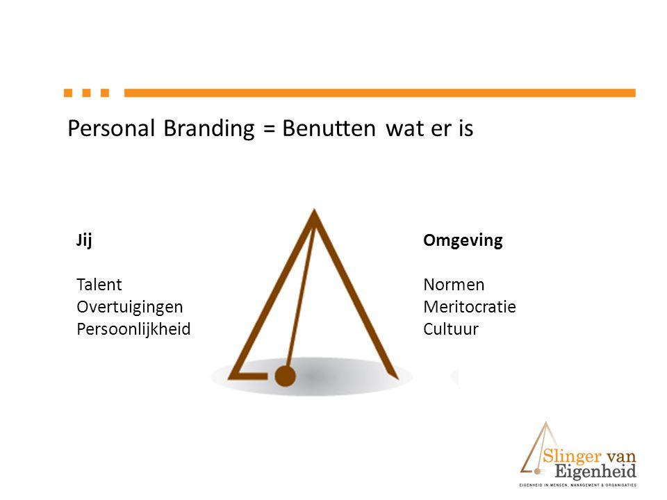 Personal Branding = Benutten wat er is
