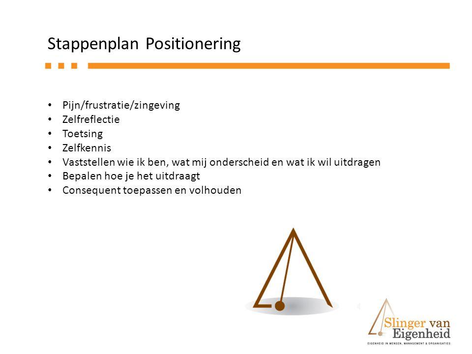 Stappenplan Positionering
