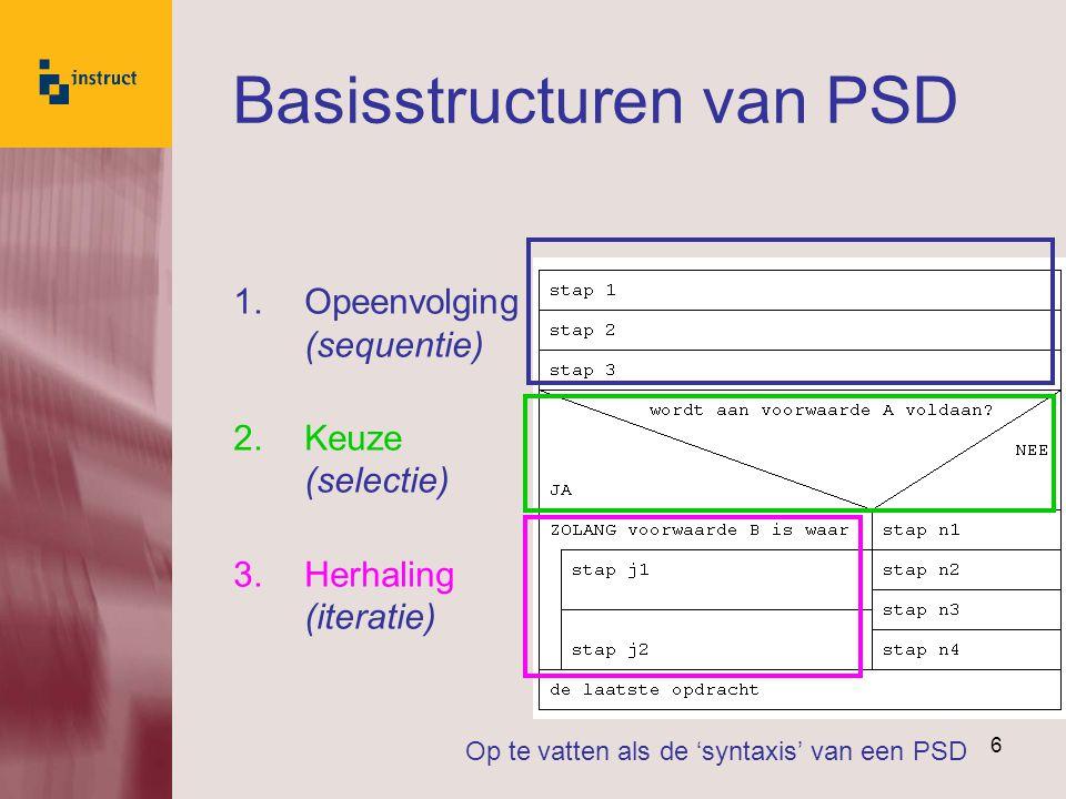 Basisstructuren van PSD